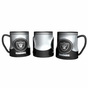 Oakland Raiders 20oz Game Time Sculpted Mug - Click to enlarge