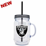 Oakland Raiders 20oz Infuser Mason Jar