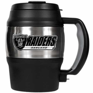 Oakland Raiders 20oz Stainless Mini Jug - Click to enlarge