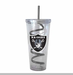 Oakland Raiders 22oz Swirl Straw Tumbler