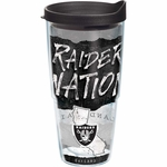 Oakland Raiders 24oz Raider Nation Statement Tumbler