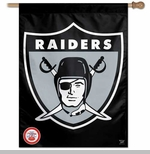 Oakland Raiders 27 Inch 1963 Logo Vertical Flag