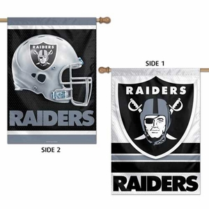 Oakland Raiders 28 x 40 Two Sided Vertical Flag - Click to enlarge