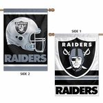 Oakland Raiders 28 x 40 Two Sided Vertical Flag