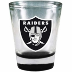 Oakland Raiders 2oz Chrome Collector Glass