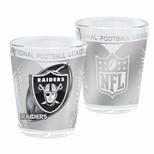 Oakland Raiders 2oz Hi Def Shot Glass - Click to enlarge