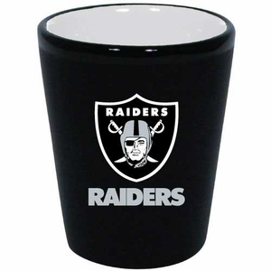 Oakland Raiders 2oz Two Tone Ceramic Shot - Click to enlarge