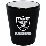 Oakland Raiders 2oz Two Tone Ceramic Shot
