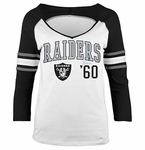Oakland Raiders 3/4 Sleeve Raglan