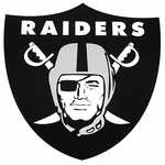 Oakland Raiders 3.5 Inch Shield Logo Vinyl Decal