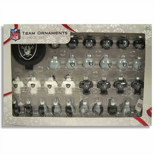 Oakland Raiders 31 Piece Ornament Set - Click to enlarge