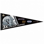 Oakland Raiders 3X Super Bowl 50 Pennant