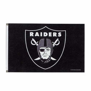 Oakland Raiders 3x5 Logo Flag - Click to enlarge
