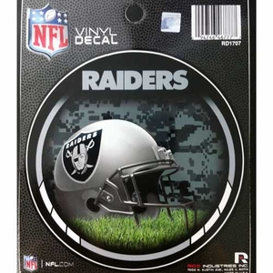 Oakland Raiders 4.5 Inch Vinyl Decal - Click to enlarge