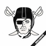 Oakland Raiders Four Inch Pirate Logo Decal