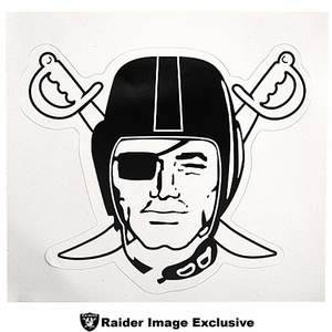 Oakland Raiders Four Inch Pirate Logo Decal - Click to enlarge