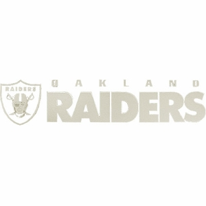 Oakland Raiders 4 x 16 Inch Die Cut Decal - Click to enlarge