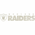 Oakland Raiders 4 x 16 Inch Die Cut Decal