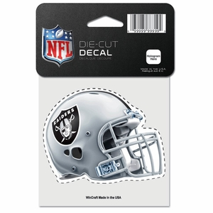 Raiders 4 x 4 Helmet Die Cut Decal - Click to enlarge
