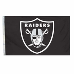 Oakland Raiders 4 x 6 Shield Flag