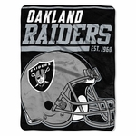 Oakland Raiders 40 Yard Dash Micro Raschel Blanket