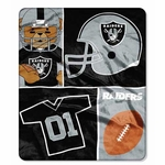 Oakland Raiders 40x50 Silk Touch Baby Blanket