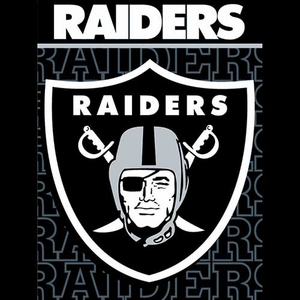 Oakland Raiders 46x60 Livin Large Micro Raschel - Click to enlarge