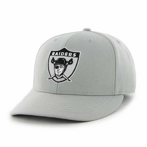 Oakland Raiders '47 Brand 1963 Logo Gray MVP Cap - Click to enlarge