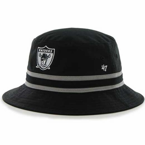 Oakland Raiders '47 Brand 1963 Striped Bucket Hat - Click to enlarge