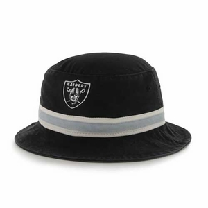 Oakland Raiders '47 Brand Black Bucket Hat - Click to enlarge