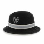 Raiders '47 Brand Black Bucket Hat