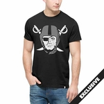 Raiders '47 Brand Black Crosstown Pirate Tee