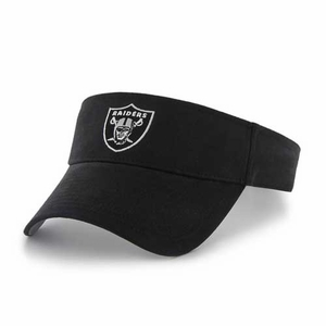 Oakland Raiders '47 Brand Black Logo Visor - Click to enlarge