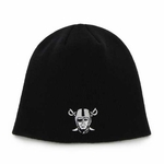 Oakland Raiders '47 Brand Black Pirate Logo Beanie