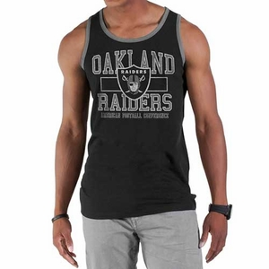 Oakland Raiders '47 Brand Grey Tilldawn Tank - Click to enlarge