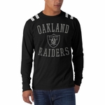 Oakland Raiders '47 Brand Bruizer Long Sleeve Tee