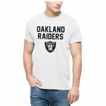 Oakland Raiders '47 Brand Crosstown White Tee