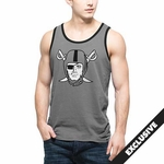 Oakland Raiders '47 Brand Grey Crosstown Pirate Tank