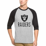 Oakland Raiders '47 Brand Lockdown Raglan Long Sleeve Tee