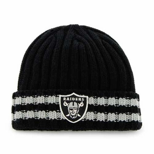Oakland Raiders '47 Brand Melbourne Knit Hat - Click to enlarge