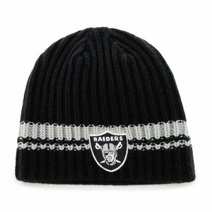 Oakland Raiders '47 Brand Ontario Knit Hat - Click to enlarge