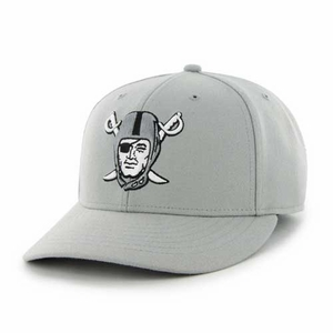 Oakland Raiders '47 Brand Pirate Logo Gray MVP Cap - Click to enlarge