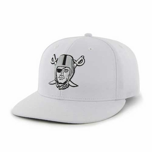 Oakland Raiders '47 Brand Pirate Logo White MVP Cap - Click to enlarge