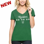 Oakland Raiders '47 Brand St. Patrick's Flanker Tee