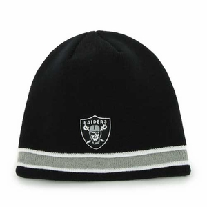 Oakland Raiders '47 Brand Super Pipe Knit Hat - Click to enlarge