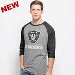 Oakland Raiders '47 Brand Union Baseball Tee