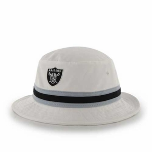 Oakland Raiders '47 Brand White Bucket Hat - Click to enlarge