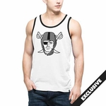 Oakland Raiders '47 Brand White Crosstown Pirate Tank
