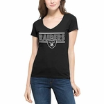 Oakland Raiders '47 Brand Women's Flanker Clutch Tee