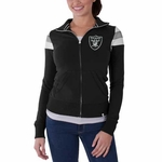 Oakland Raiders '47 Brand Womens Crossover Track Jacket